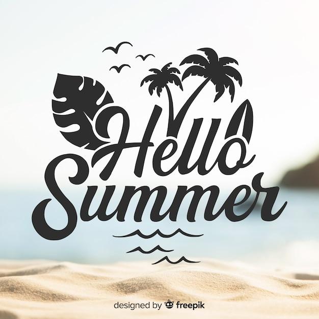Fondo de bienvenida al verano vector gratuito