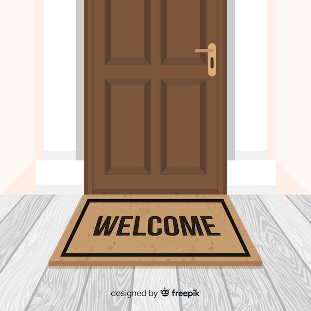 Fondo de bienvenida vector gratuito
