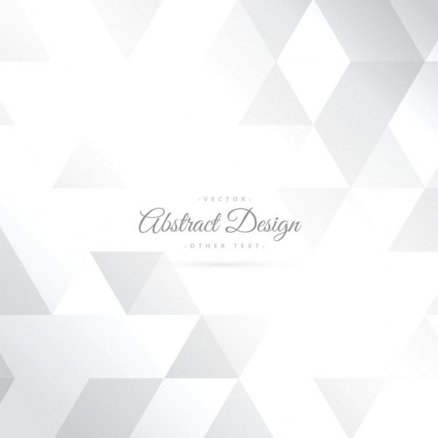 Fondo blanco brillante de formas de triángulo  Vector Gratis