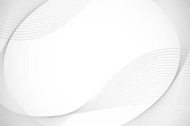 Fondo blanco con espacio de copia de líneas circulares vector gratuito