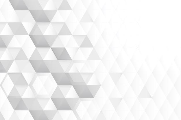 Fondo blanco del espacio de la copia del panal 3d vector gratuito