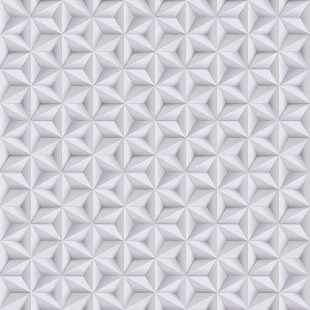 Fondo blanco, gris abstracto, patrón transparente de papel con estrellas, textura geométrica. Vector Premium