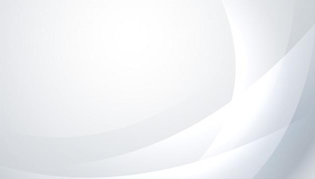 Fondo blanco y gris brillante con líneas onduladas. vector gratuito