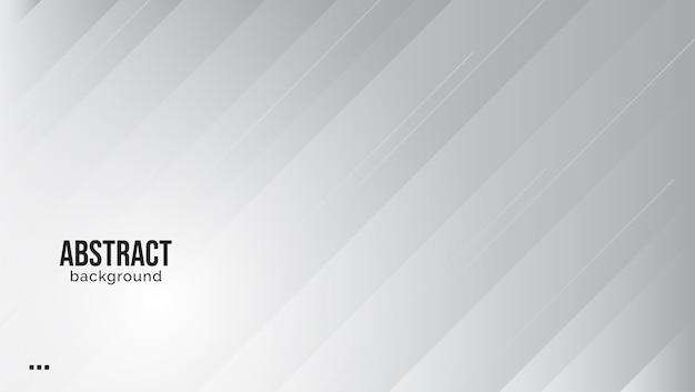 Fondo blanco y gris elegante abstracto. Vector Premium