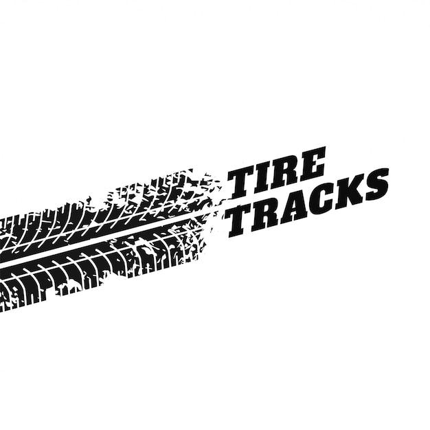 Fondo blanco con la impresión de la pista del neumático vector gratuito