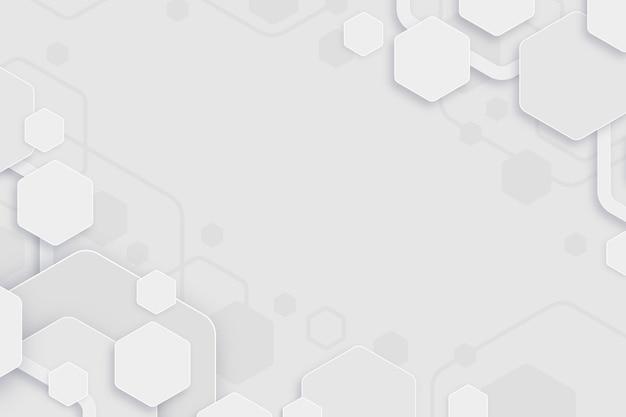 Fondo blanco mínimo hexágonos vector gratuito
