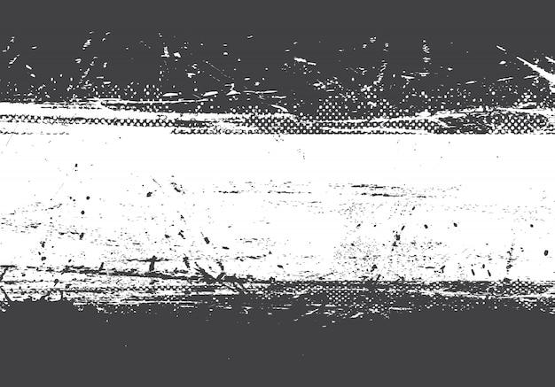 Fondo blanco y negro apenado grunge Vector Premium