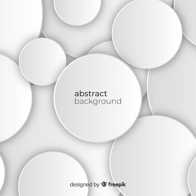 Fondo blanco de papel con figuras en 3d vector gratuito