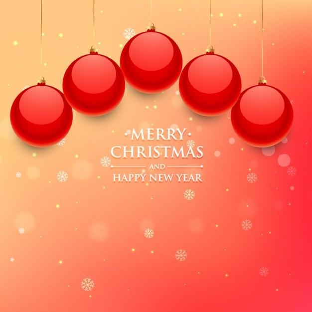 Fondo bokeh con bolas de navidad rojas descargar - Bolas de navidad rojas ...
