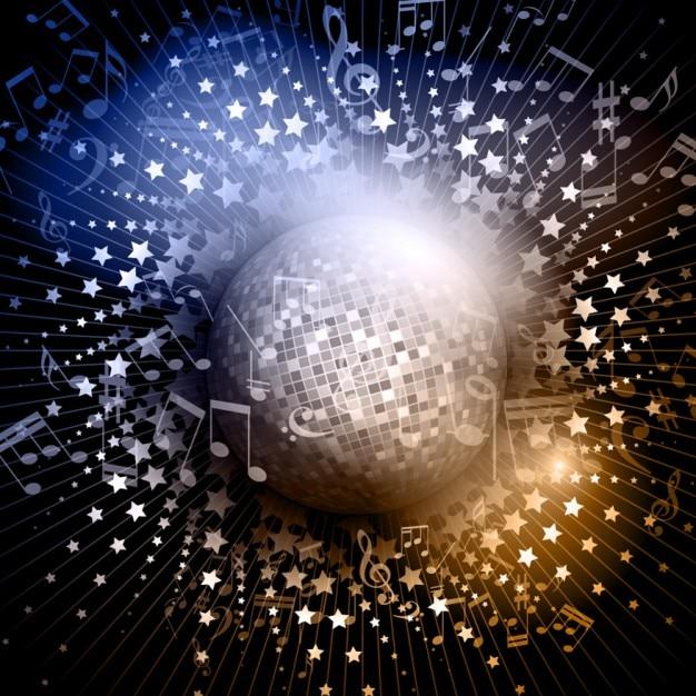 523326225c52 Fondo de bola disco brillante vector gratuito