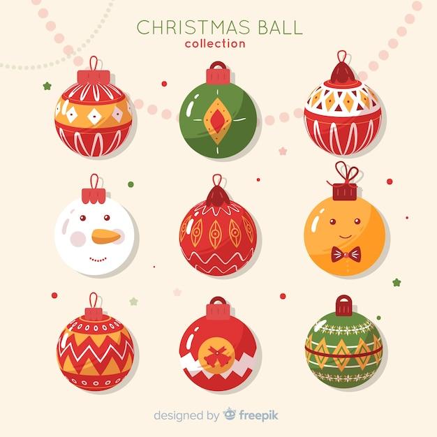 Fondo bolas de navidad personajes | Descargar Vectores gratis