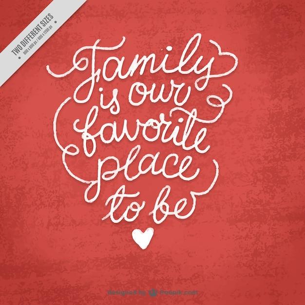 Fondo Con Bonita Frase De La Familia Vector Gratis