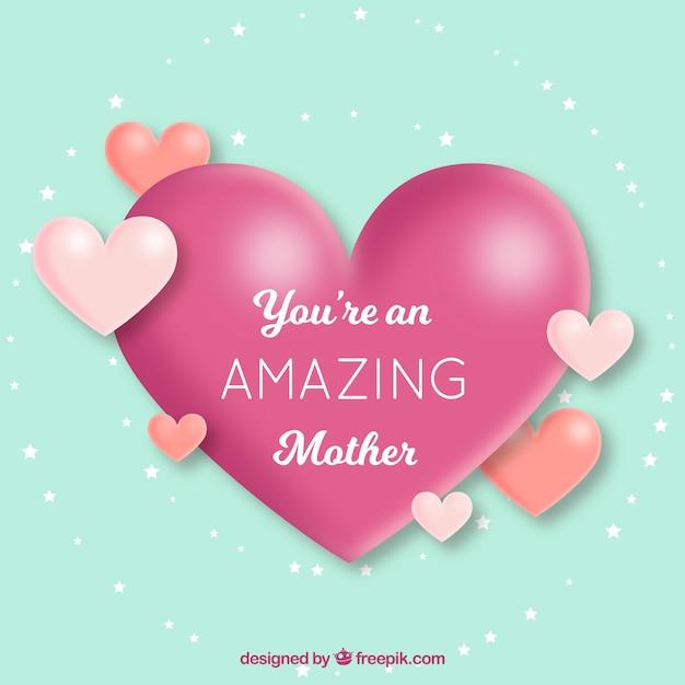 Fondo Bonito Con Corazones Para El Día De La Madre Descargar