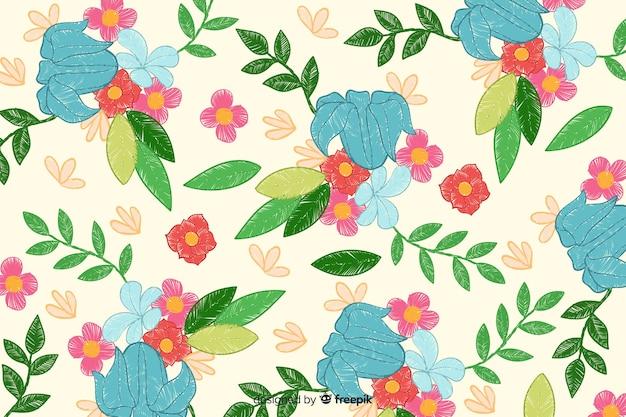 Fondo de bordado floral vector gratuito