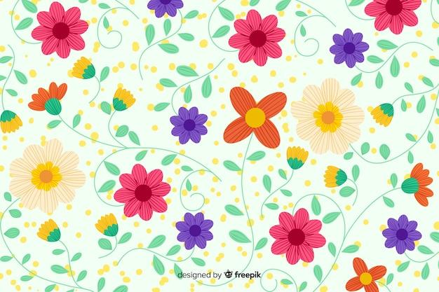 Fondo de bordado mexicano de flores vector gratuito