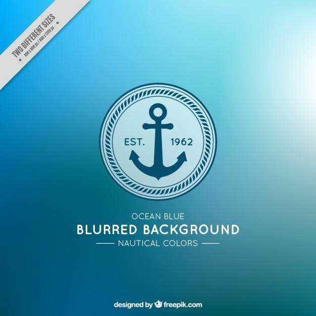 Fondo borroso bonito con ancla y colores náuticos vector gratuito