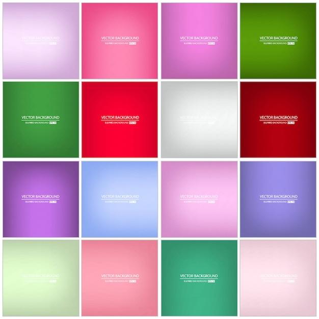 Fondo borroso multicolor Vector Premium