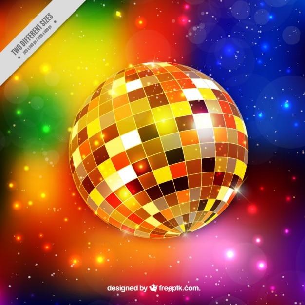 Fondo brillante de bola de discoteca descargar vectores - Bola de discoteca de colores ...