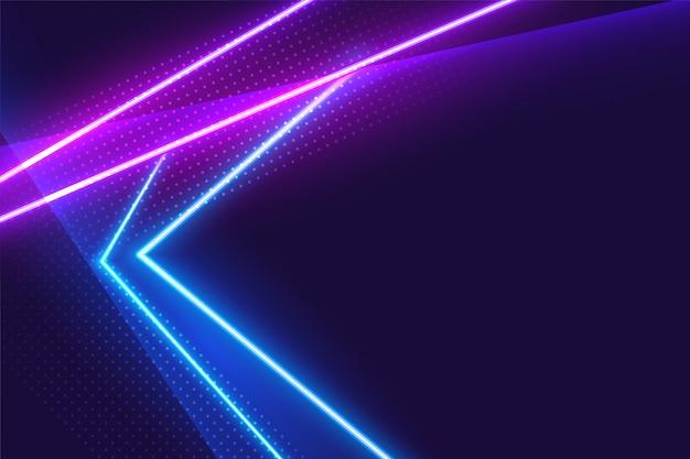 Fondo brillante de luces de neón azul y púrpura vector gratuito
