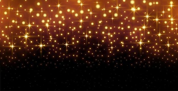 Fondo de brillo destellos golen con efecto de luz vector gratuito