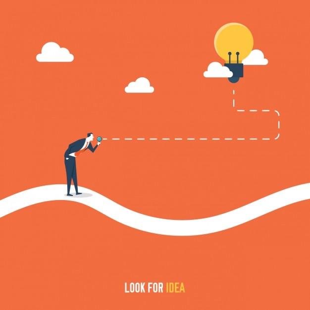 Fondo de buscando una idea vector gratuito