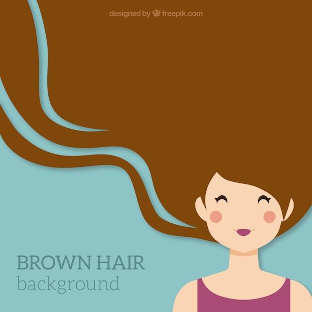 Fondo, cabello marrón vector gratuito