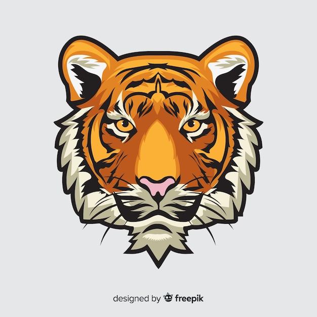Fondo cabeza tigre Vector Premium