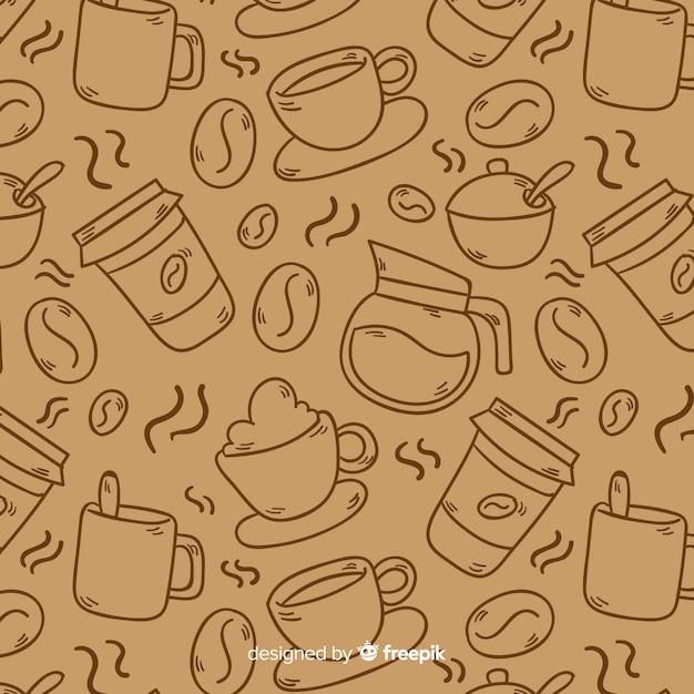 Fondo café sin color vector gratuito