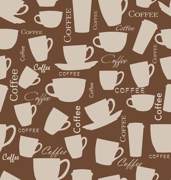 Fondo de café sin costura Vector Premium