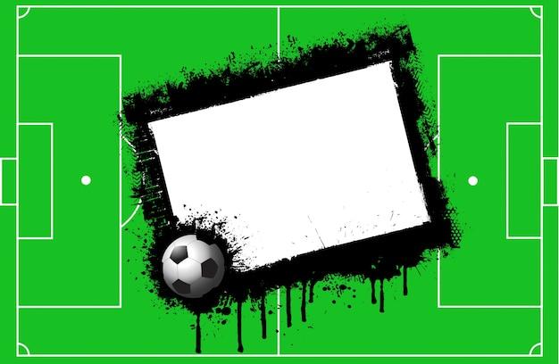 Deportes Pelotas Fondo Grunge: Fondo Campo De Fútbol Grunge Con Espacio Para Texto