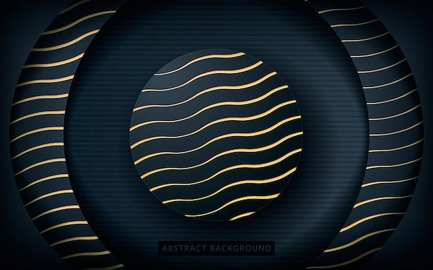 Fondo de capa de círculo con textura dorada Vector Premium