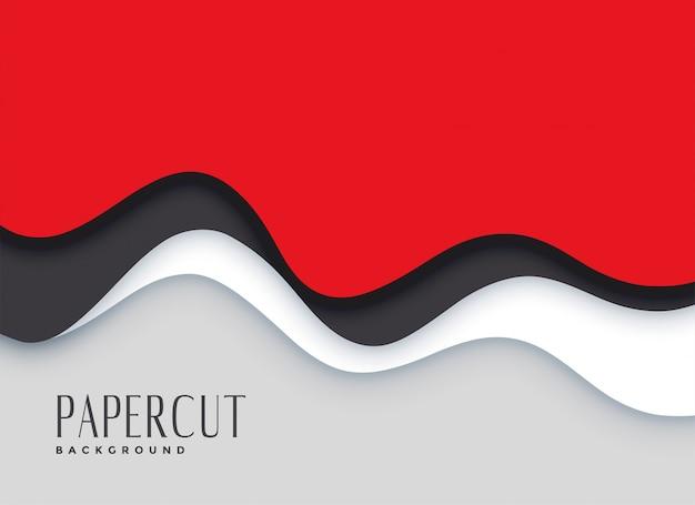 Fondo de capas de papercut rojo con estilo vector gratuito
