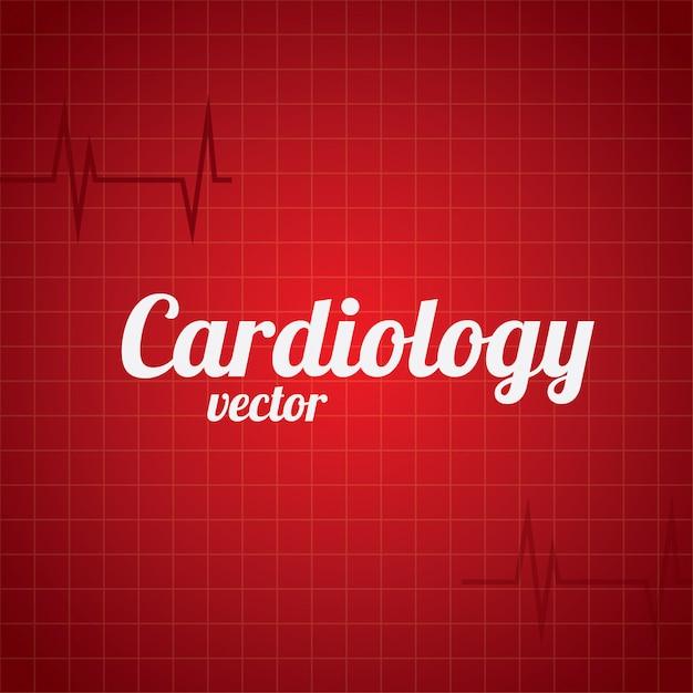 Fondo de cardiología vector gratuito
