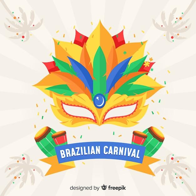 Fondo del carnaval de brasil vector gratuito