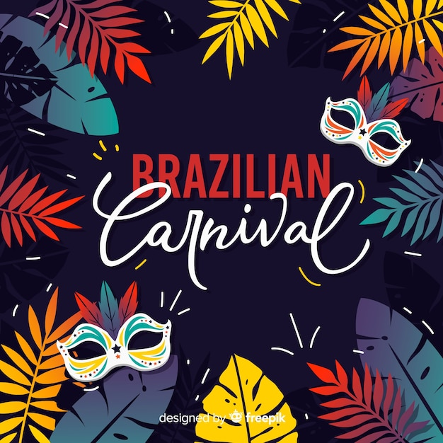 Fondo del carnaval brasileño vector gratuito