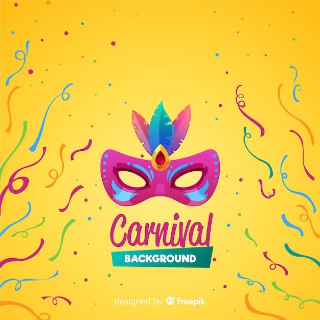 Fondo de carnaval en diseño plano vector gratuito