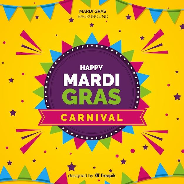Fondo de carnaval de mardi gras vector gratuito
