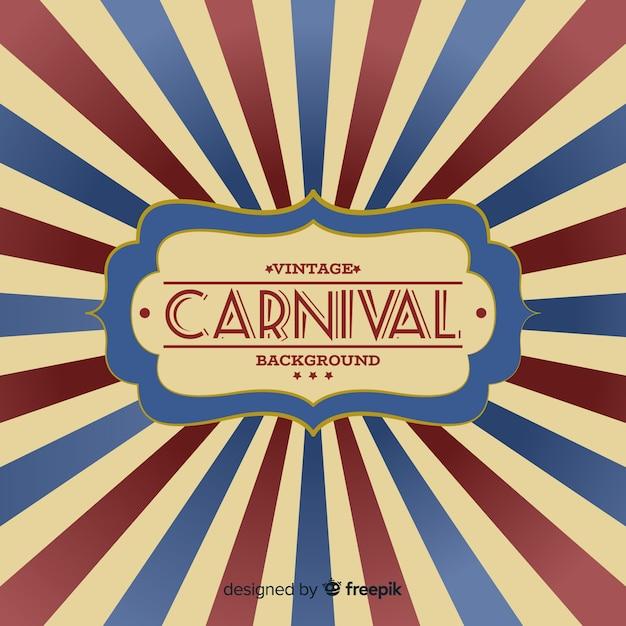 Fondo de carnaval vintage vector gratuito