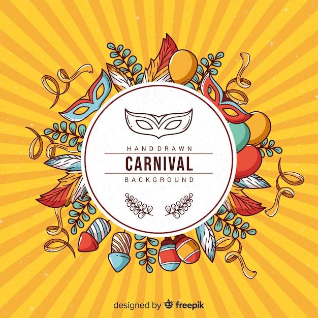 Fondo de carnaval vector gratuito