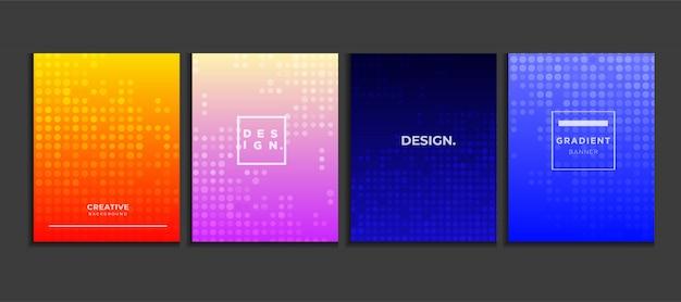 Fondo de cartel degradado con semitono, vector de concepto de banner moderno. Vector Premium