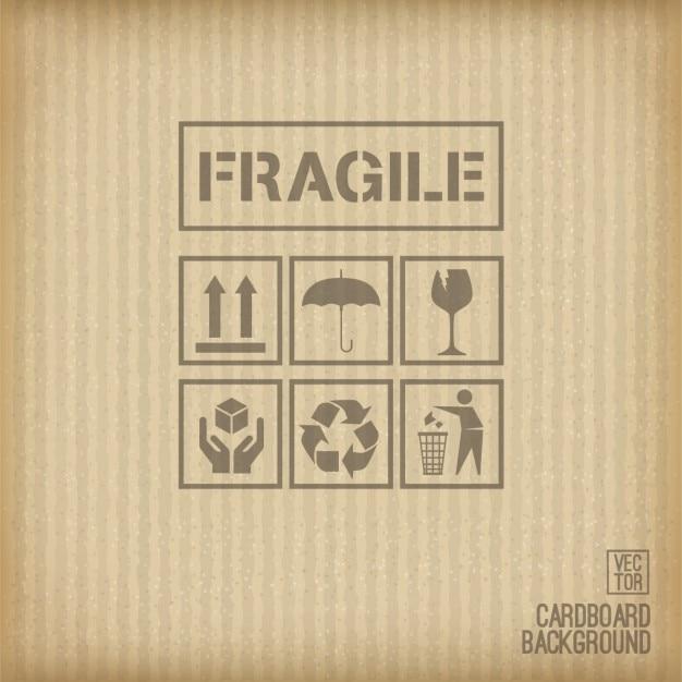 Fondo de cartón con signos ecológicos vector gratuito