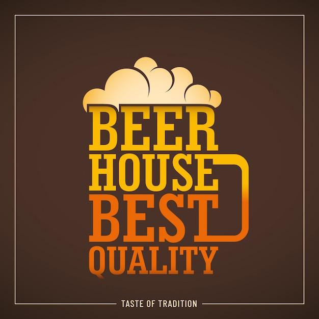 Fondo de la casa de la cerveza Vector Premium