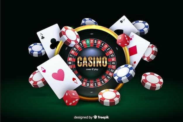 Fondo de casino realista vector gratuito