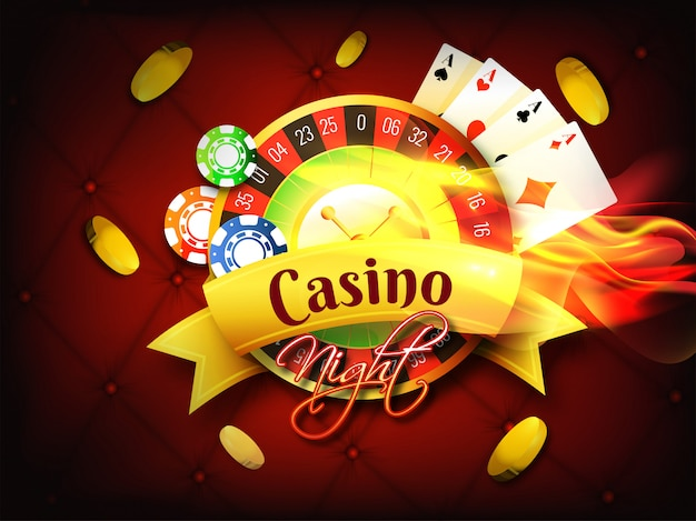 Fondo del casino. Vector Premium