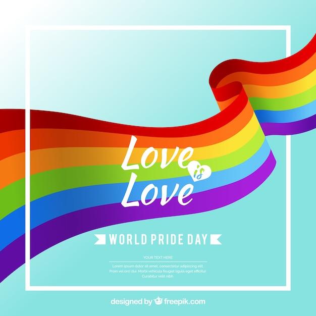Fondo de celebración del día del orgullo vector gratuito