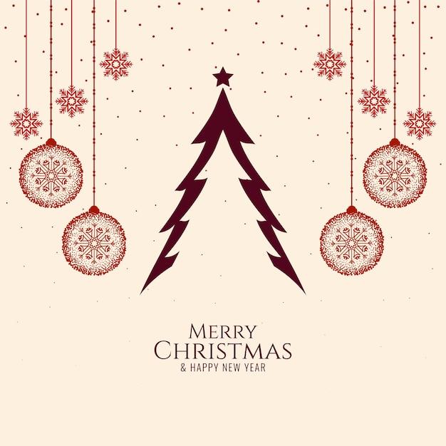 Fondo de celebración de festival de feliz navidad elegante simple vector gratuito