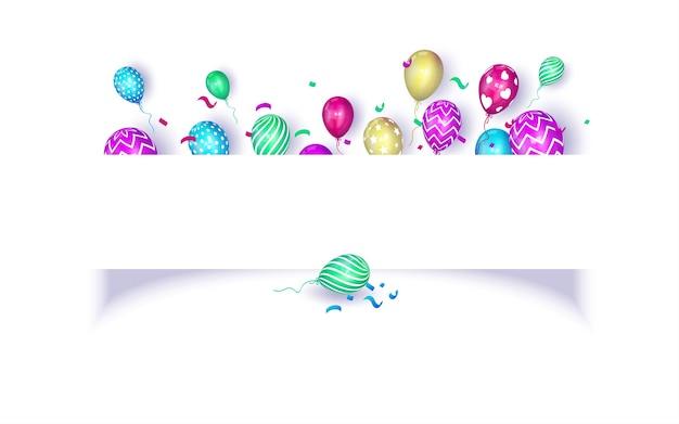 Fondo de celebración de fiesta de cumpleaños con espacio de copia para texto y mensaje vector gratuito