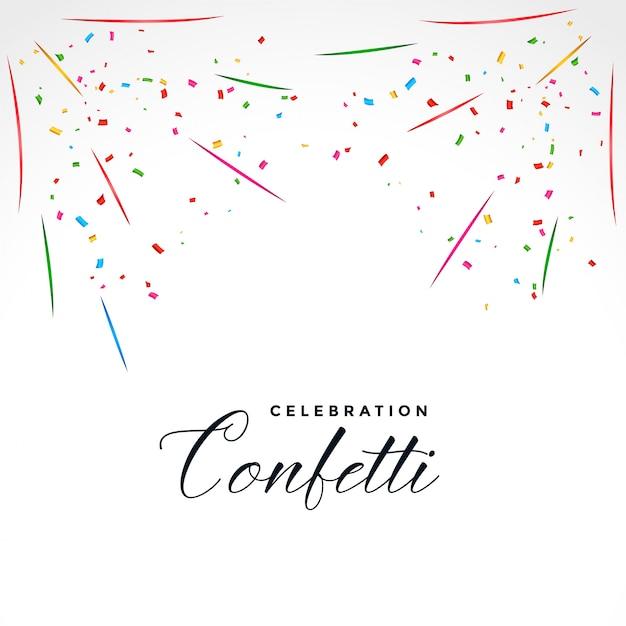Fondo de celebración de fiesta de explosión de confeti vector gratuito