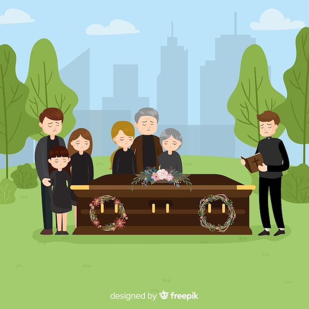 Fondo ceremonia funeral vector gratuito