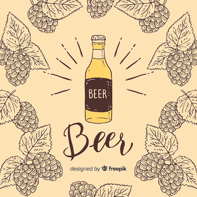 Fondo con cervezas vector gratuito